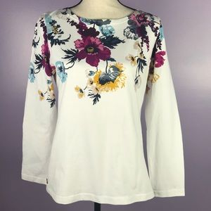 Joules Clothing Size 10 Floral Pull Over Sweater